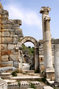Antique ruins in Ephesus Stock Image