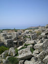 The antique ruins of Sicily in Selinunt Royalty Free Stock Photo