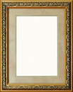 Antique rustic golden picture frame isolated Royalty Free Stock Photo