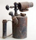 Antique rusty oil lamp Royalty Free Stock Photo