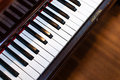 Antique s piano lots character close up keys Stock Photography