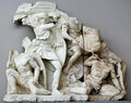 Antique sculpture group in Ephesus Stock Photos
