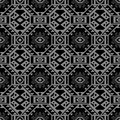 Antique seamless background 426 aboriginal polygon square cross triangle check geometry Royalty Free Stock Photo