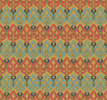 Antique seamless background image of aboriginal brown garden leaf abstract pattern Royalty Free Stock Photo