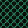 Antique seamless green background check star cross geometry star