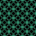 Antique seamless green background octagon star cross triangle