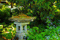 Antique Sennuji lantern, Japanese Garden Royalty Free Stock Photos