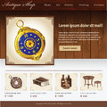 Antique shop website design template for Stock Photos