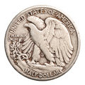 Antique silver half-dollar Stock Photos