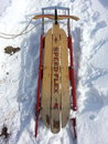 Antique snow sled Royalty Free Stock Photo