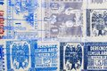 Antique spanish stamps with postmarks. Vintage historic philatel Royalty Free Stock Photo