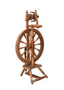 Antique spinning wheel isolated on white Royalty Free Stock Image