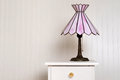 Antique stained glass lamp