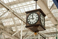 Antique station clock Stock Image