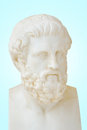 Antique statue of sophocles he is one of three ancient greek tragedians whose plays have survived Stock Image