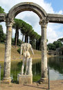 Antique statue in Villa Adriana, Tivoli Rome Royalty Free Stock Photo