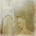 Antique statues background Stock Photos