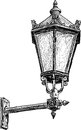 Antique street lantern vector drawing of the vintage light Stock Photo