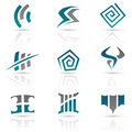 Antique Style Abstract Icons Stock Photo