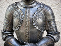 Antique suit of armor beautiful Royalty Free Stock Photos