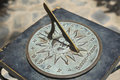 Antique sundial. Royalty Free Stock Photo