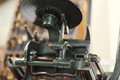Antique tabletop printing press vintage in working condition Stock Image