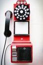Antický telefon zobrazí v zařízení poskytující ubytovací služby v peking