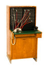 An antique telephone switchboard of the kind used in hotels and companies mid th century Royalty Free Stock Photos