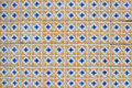 Antique Textured Portuguese Tiles Stock Photos