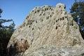 Antique Thracian Sanctuary Eagle Rocks near town of Ardino, Kardzhali Region Royalty Free Stock Photo