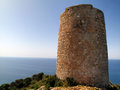 Antique tower of Cerro Gordo, spain Stock Photography