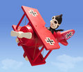 Antique Toy Airplane (with clipping path) Stock Photography