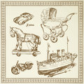 Antique toys Stock Image