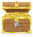 Antique treasure chest vector illustration Stock Photos