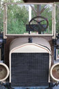 Antique truck frontal closeup view of topless Royalty Free Stock Photo