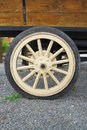 Antique truck wheel with spokes Royalty Free Stock Photography