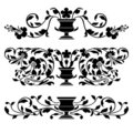Antique vector ornaments Royalty Free Stock Image