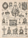 Antique victorian objects and collectibles. old newspaper. retro Royalty Free Stock Photo
