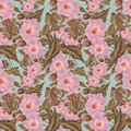 Antique vintage Antique Pink Flower Pattern Royalty Free Stock Photo