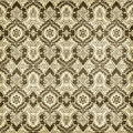 Antique vintage damask style pattern christmas wallpaper background brown and cream Royalty Free Stock Photos