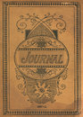 Antique Vintage Diary Journal Book Cover Royalty Free Stock Photo