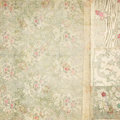 Antique vintage floral wallpaper collage background Stock Image