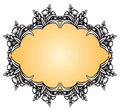 Antique vintage frame with floral decoration vector illustration Royalty Free Stock Photo