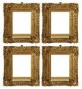 Antique Vintage Gold Frames Set Royalty Free Stock Photography