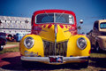 Antique vintage and old cars. Royalty Free Stock Photo