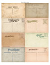 Antique Vintage Postcard Set of 8 Royalty Free Stock Photos