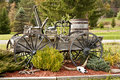Antique wagon filled vintage items yesteryear Royalty Free Stock Image