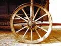 Antique Wagon Wheel Royalty Free Stock Photo