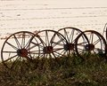 Antique Wagon Wheels Royalty Free Stock Photo