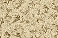 Antique wallpaper with floral pattern Royalty Free Stock Photos